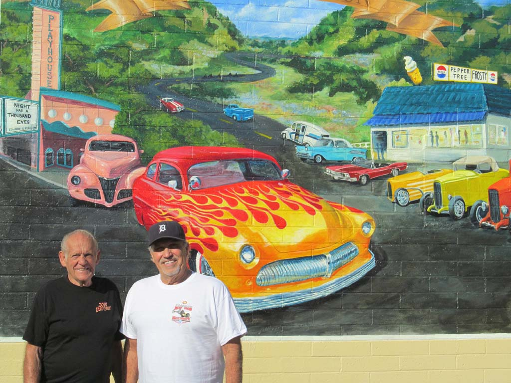 Mural brings nostalgia for driving Route 395