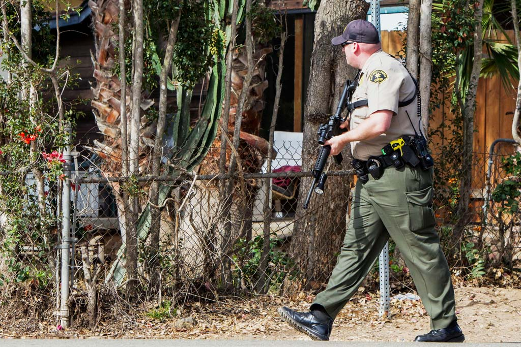 Encinitas Sheriff's deputies respond to a call of shots fired on Sunday morning on the 100 block of Requeza Street. Deputies wouldn't confirm the number of people arrested. Courtesy photo