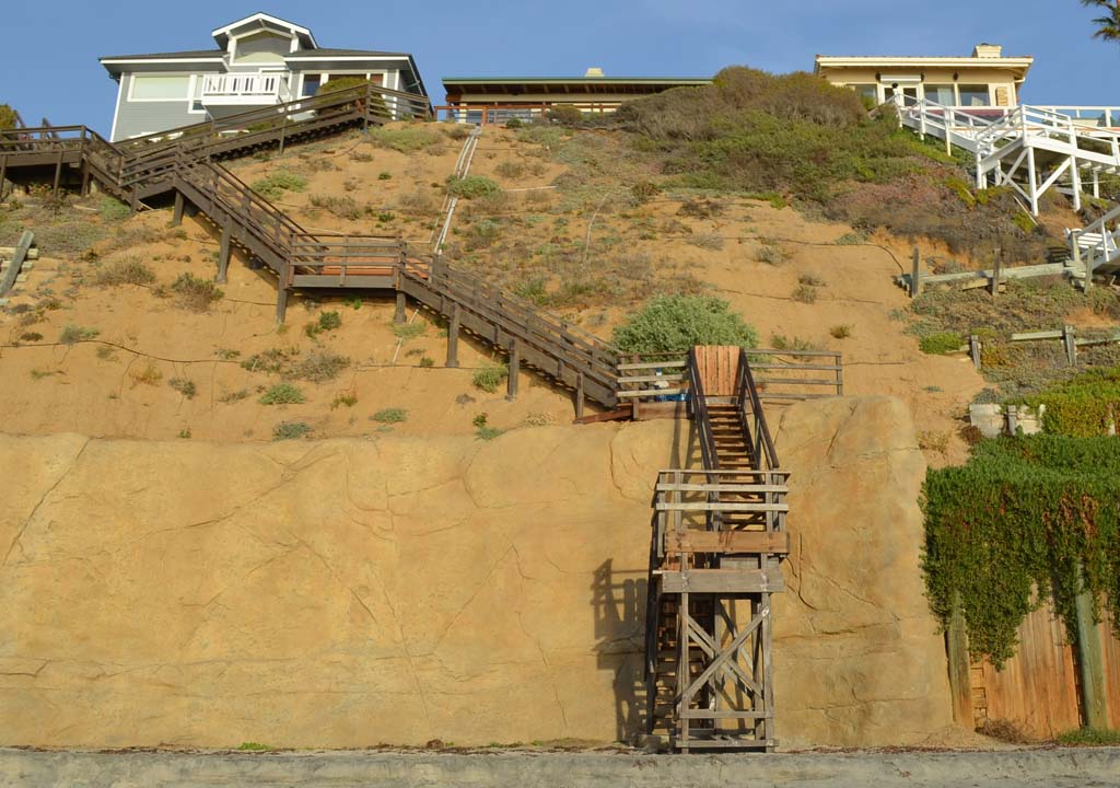 Arguments heard over private Encinitas seawall, staircase