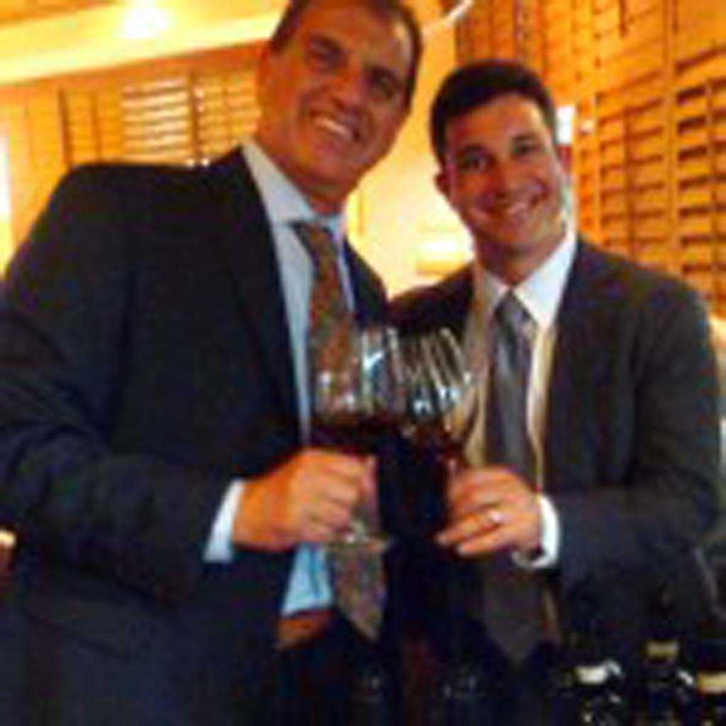 Harry's Bar & American Grill owner Garo Minassian and Batasiolo wines Import Director Stephano Poggi.