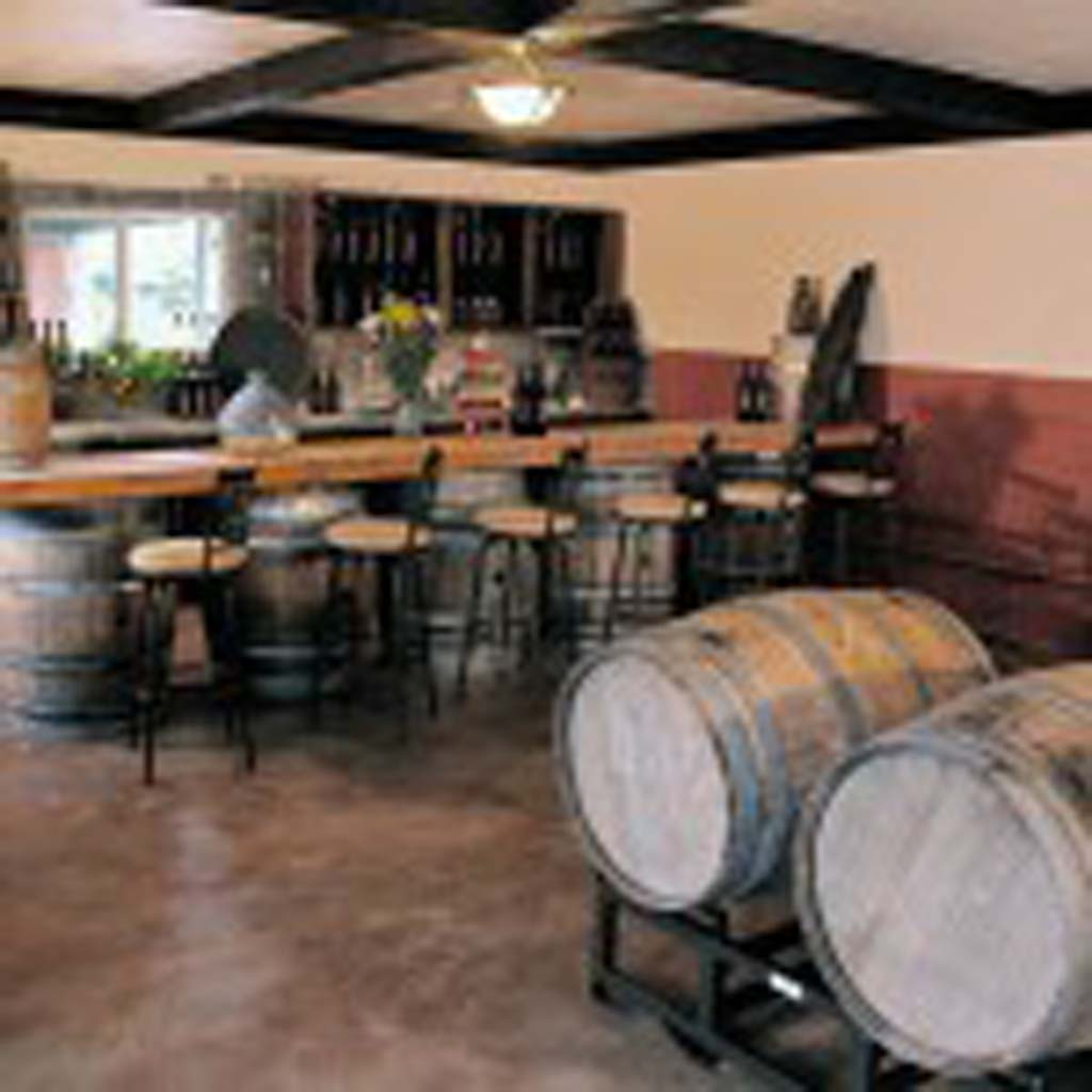The newest winery in Fallbrook, just off Interstate 15, is EstateD' Iacobelli, with its traditional tasting room, shown above.