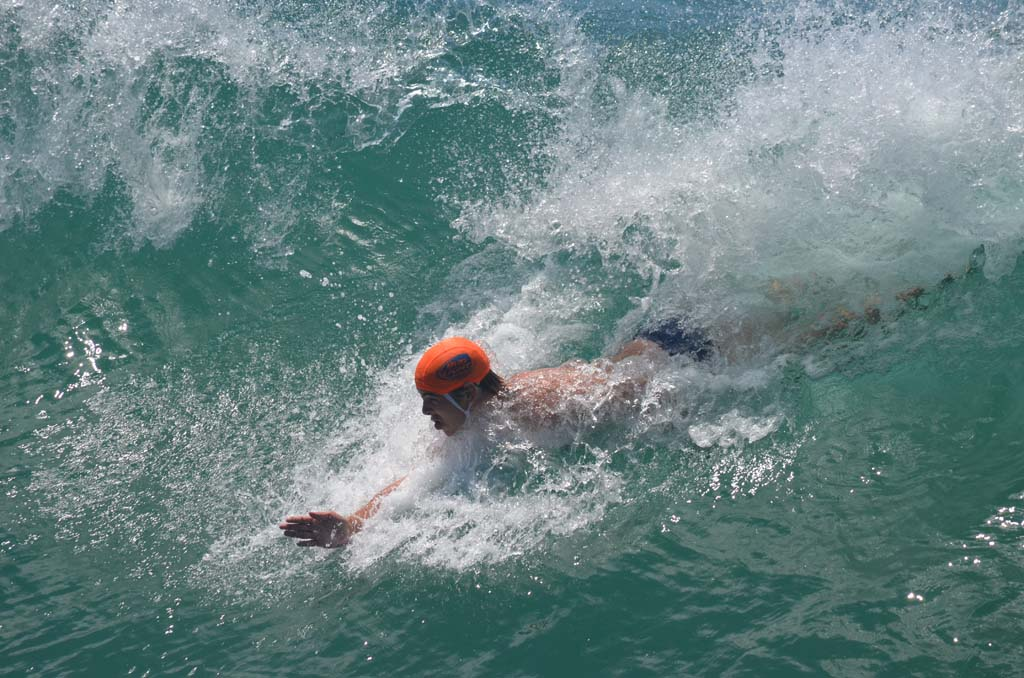 Bodysurfers from local bodysurfing clubs and from around the world turn out to compete in the 38th annual World Bodysurfing Championships in Oceanside on Aug. 16 and Aug. 17. Photo by Tony Cagala