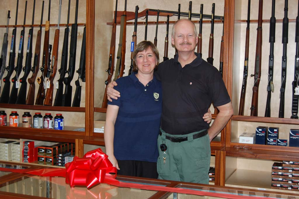 Lisa Gunther and husband Gregg Gunther own Gunther Guns. The family-owned company will be celebrating their one-year anniversary at the end of August.