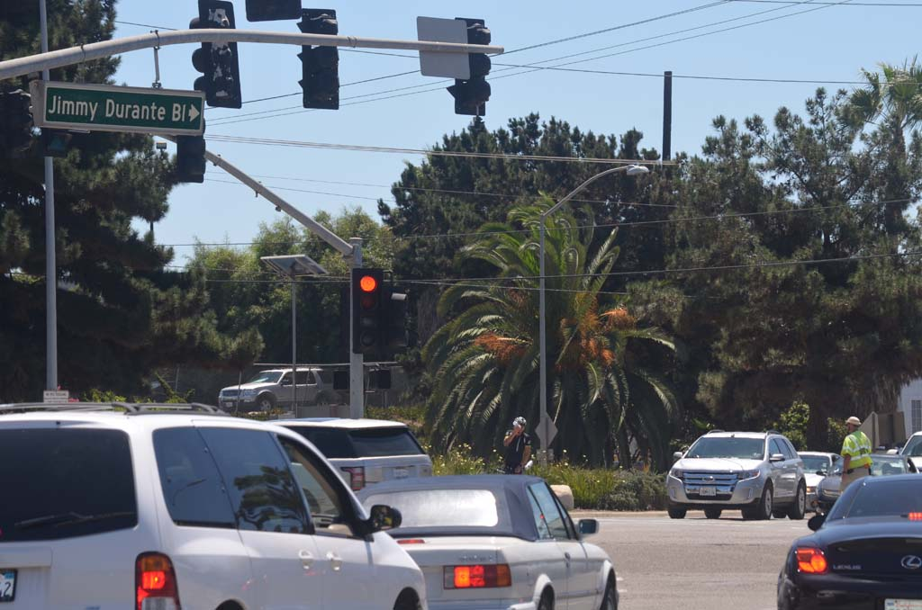 Del Mar will benefit greatly from the AAA bond ratings when they begin infrastructure on along Jimmy Durante Boulevard from San Dieguito Drive, including a roundabout at the oft-congested intersection. Photo by Tony Cagala