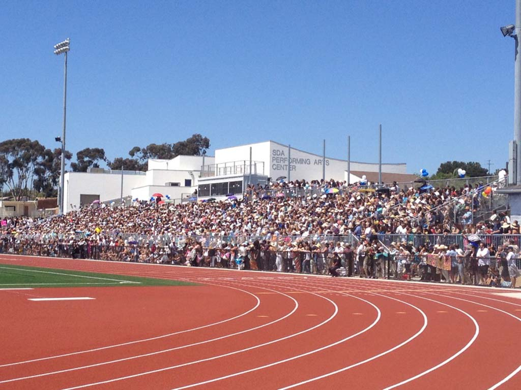 Prop AA funds went into the renovation of the San Dieguito Academy's stadium. It was finished in time for graduation this year. More funds from the proposition will be used for a number of projects in the district's schools. Courtesy photo