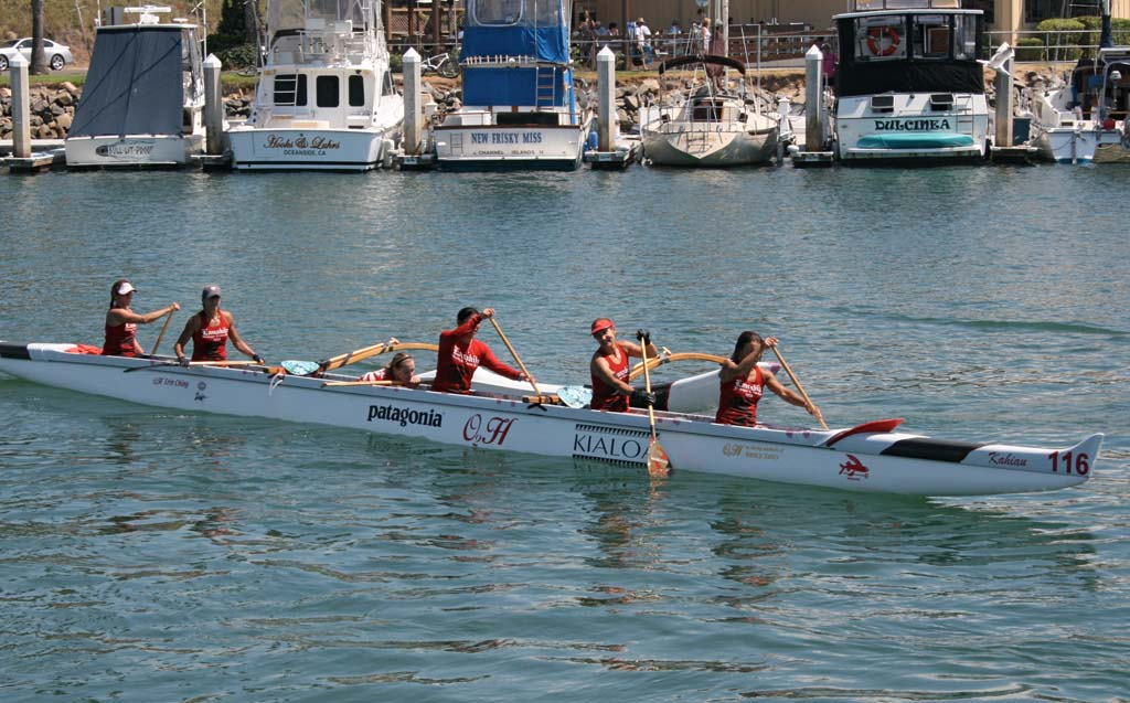 Women's teams return after a 20-mile race. The annual Paopao outrigger canoe races are set for Aug. 23. File photo by Promise Yee
