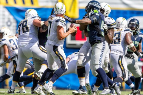 Jay Paris: Hardwick was more than the center of attention of the Chargers' front line