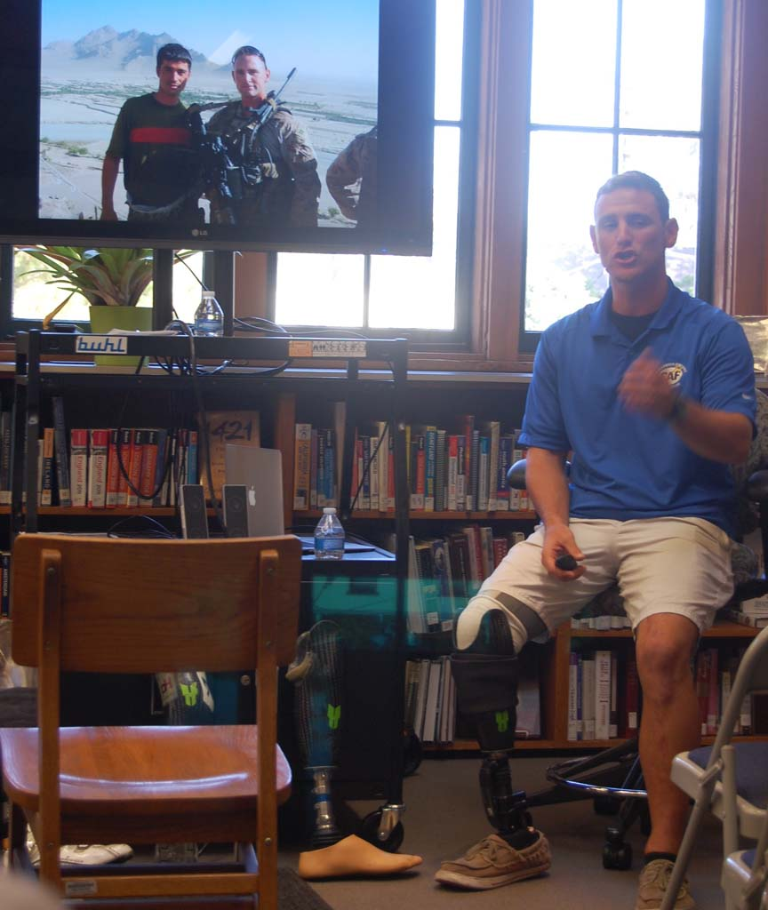 Marine describes life after being wounded