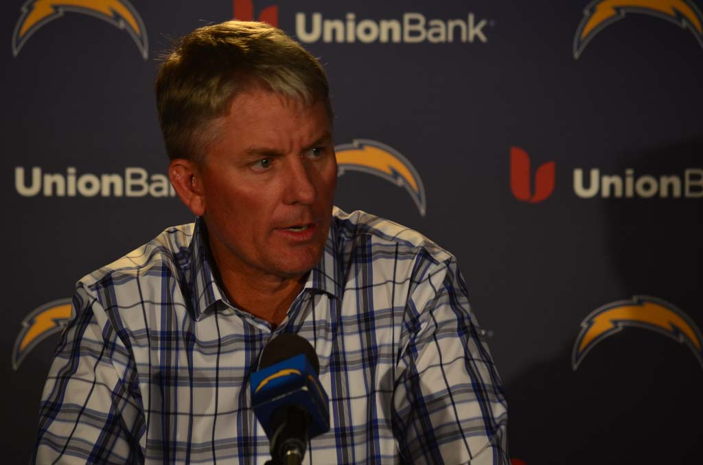 """Next man up,"" is the message Chargers head coach Mike McCoy repeats in regards to the string of injuries the team has sustained this year, including the loss of running back Danny Woodhead in Sunday's win against the Buffalo Bills. Photo by Tony Cagala"
