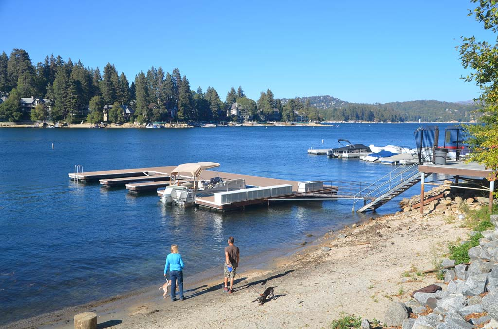 A private beach and dock is available to guests at the Lake Arrowhead Resort and Spa, which uses the private lake with permission of the owners. Fishing and tour boats schedule their activities at guests' convenience. Photos by Jerry Ondash