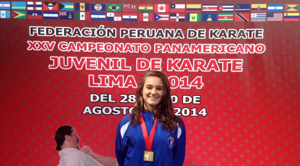 Kacie Pou took home one of three gold medals for the USA Junior National Karate Team. Courtesy photo