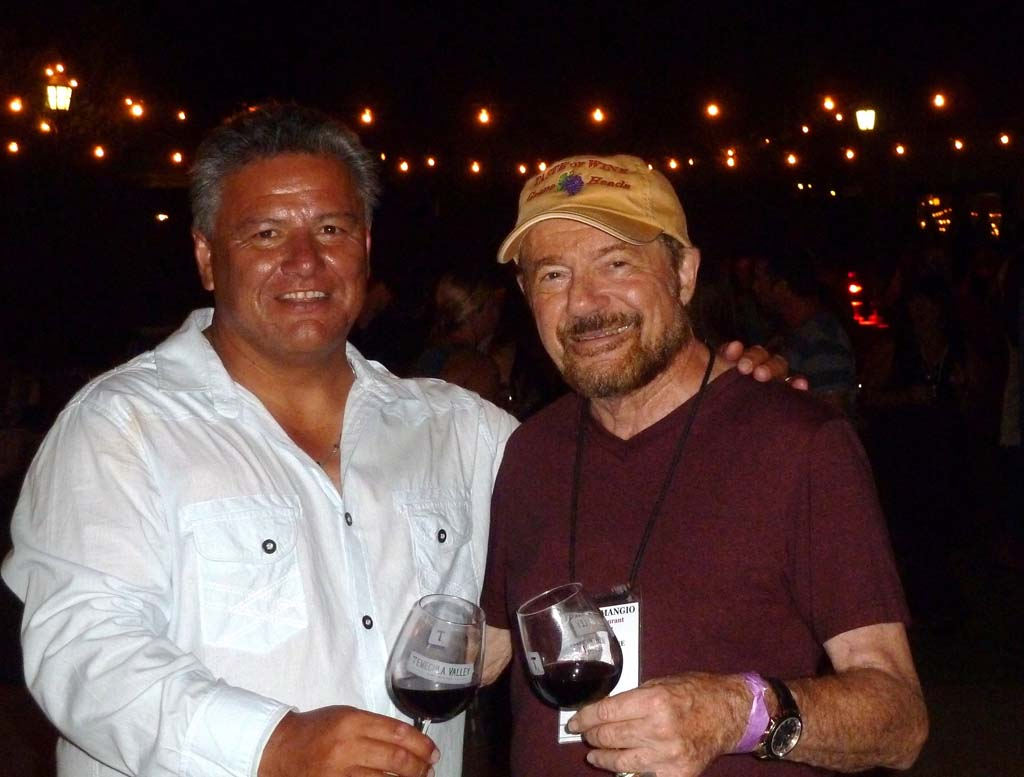 Javier Flores, winemaker at Temecula's South Coast Winery shares a Sangiovese with TASTE OF WINE columnist Frank Mangio.