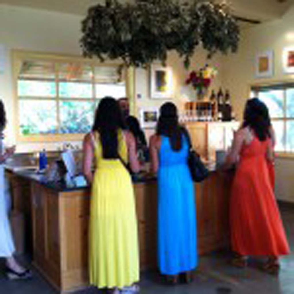 Bridesmaids – A bachelorette party makes a stop at Buttonwood Farm Winery's tasting room in the Santa Ynez Valley, north of Santa Barbara. The valley has more than 200 wineries, up from a two dozen only 20 years ago.