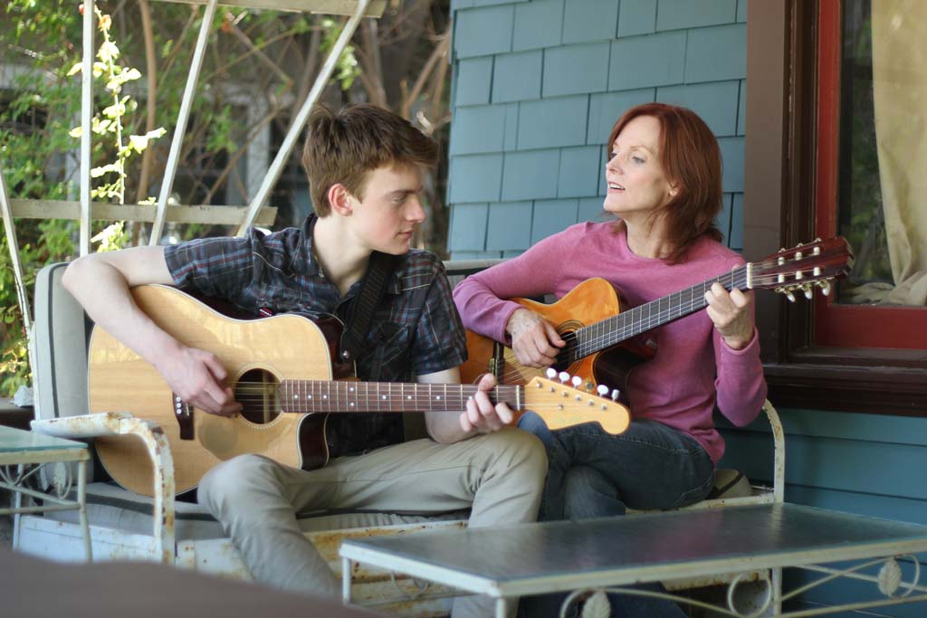 "Shane (Finneas O'Connell) and Laura (Maggie Baird) share a moment in ""Life Inside Out."" Courtesy photo"