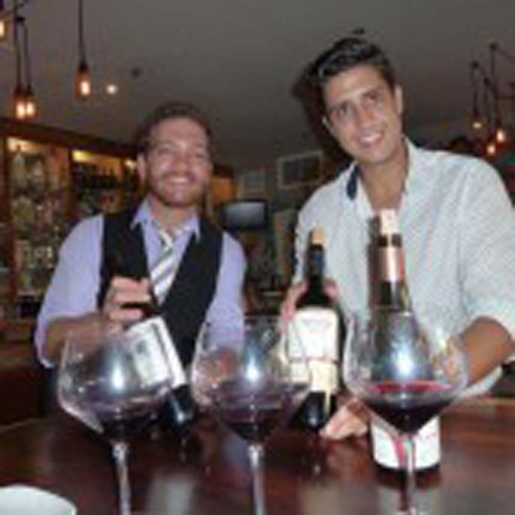 The cool Mola men include Jack Petty, bar manager and G.M. Jose Antonio Gomez, revealing their favorite wines, led by a Hazana Tempranillo from Rioja Spain. Photos by Frank Mangio