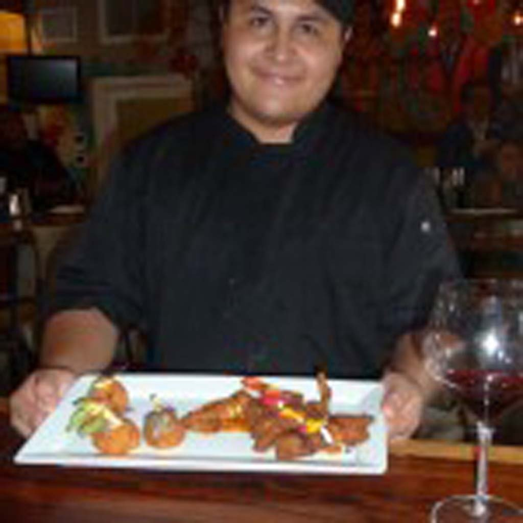 Eric Mendoza is the chef at Mola, a Tapas bar that's turning heads at the Del Mar Plaza.