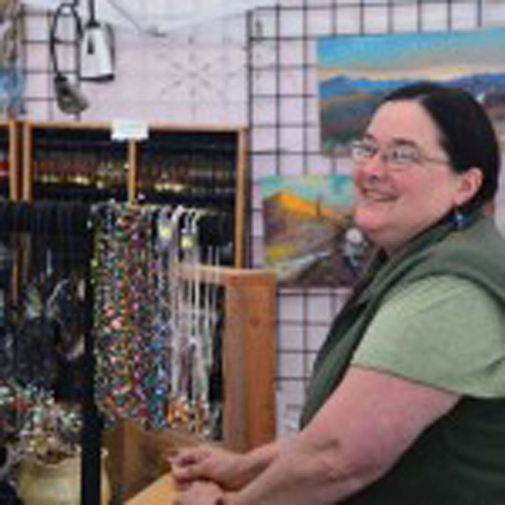 """Mary Ann Wick creates jewelry from porcupine quills and sells them at her stand in Talkeetna, Alaska. """"I'll give you $50 in credit for every (dead) porcupine you bring me,"""" she told us, """"but it's got to be head-down in the bucket."""""""