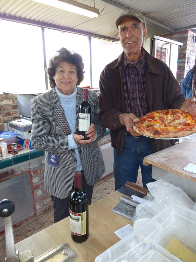 Rose and Herman Salerno of Salerno Winery make Italian style wines and serves delicious pizza in a custom outdoor kitchen. Photo by Frank Mangio