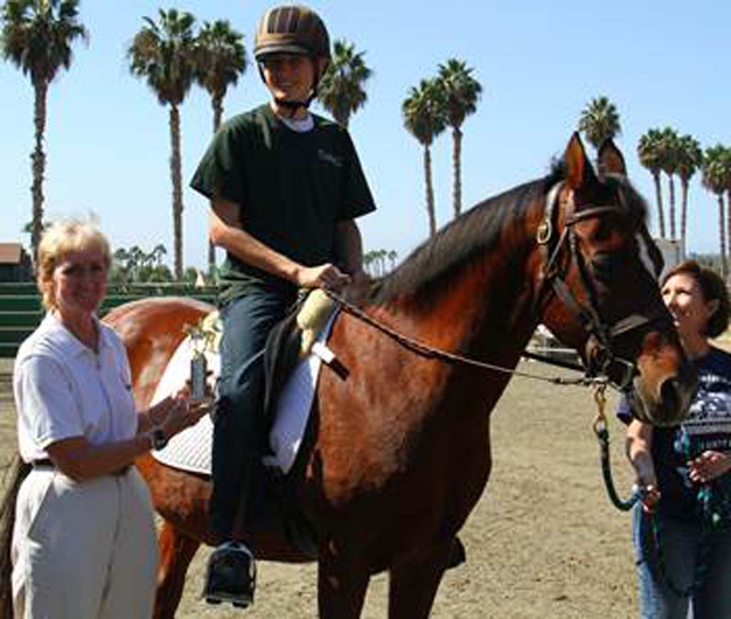 Students show off horse skills