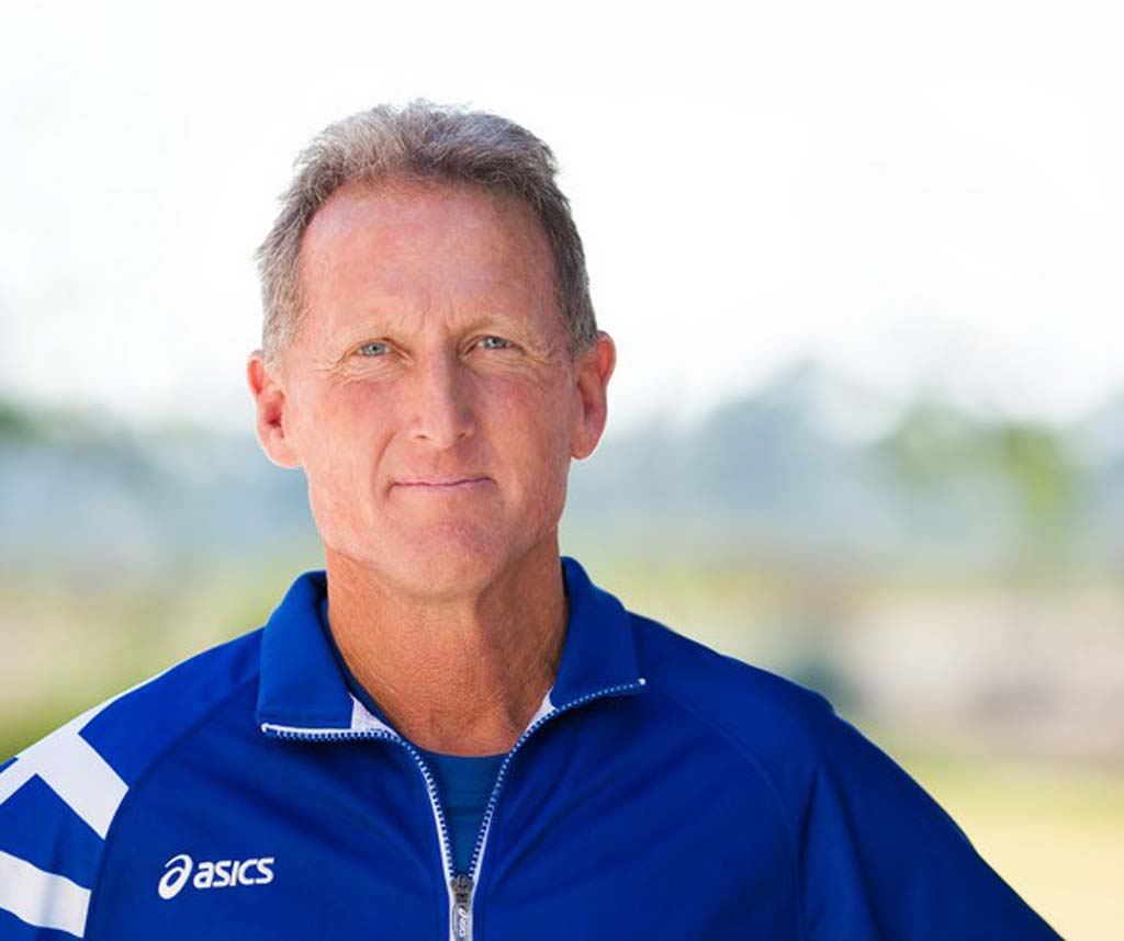 Steve Scott is being treated for prostate cancer. Scott has continued to coach cross-country and track at Cal State San Marcos throughout his treatments at the Scripps Proton Therapy Center. Photo courtesy Scripps Health