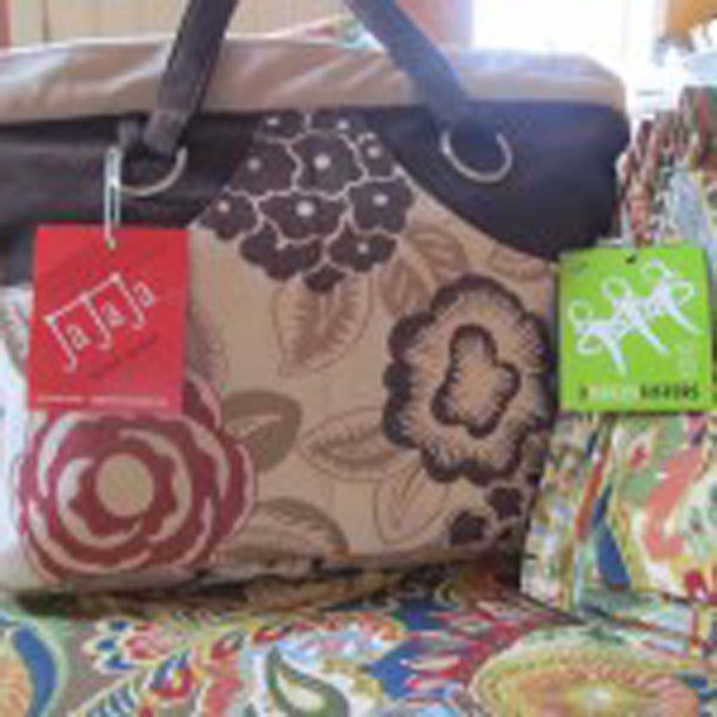 """Another Portland, Oregon,-based enterprise, 3 Green Sisters, fashions designer bags of all shapes and sizes from """"up-cycled,"""" re-purposed fabrics. Sources of the fabric include scraps and samples from upholstery and drapery shops, vintage clothing and even material from church pews. Each purse or bag is handcrafted and sturdy. Check out the bags and other Sisters fabric products at HYPERLINK """"http://3greensisters.com/"""" http://3greensisters.com/."""