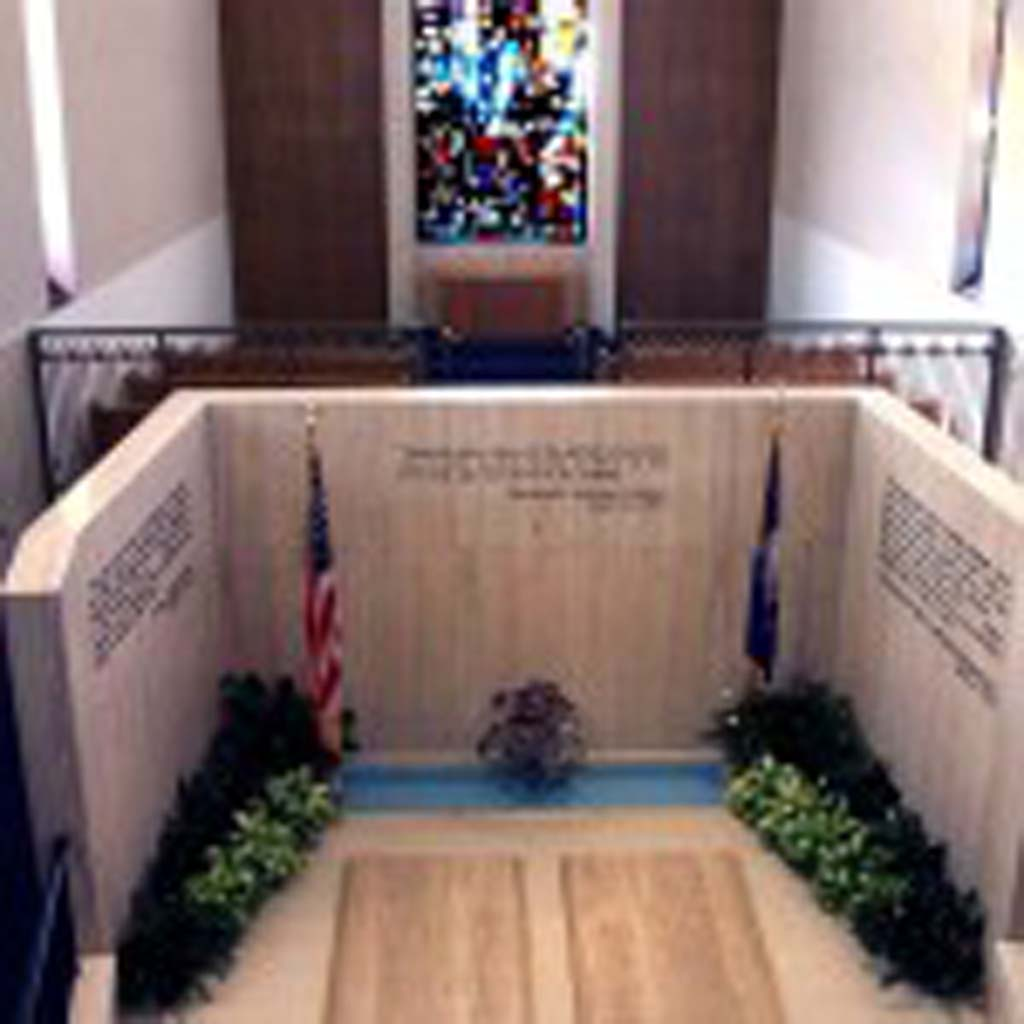 """Dwight D Eisenhower (1890-1969) is buried with his wife, Mamie Doud, and toddler son on the grounds of the Eisenhower Presidential Library, Museum and Boyhood Home in Abilene, Kan. After serving as commander of Allied Forces in World War II – he orchestrated and oversaw D-Day in 1944 - """"Ike"""" was elected president in 1952. He left office after two terms. Between the war and the presidency, Eisenhower was president of Columbia University and assumed command of the newly created NATO forces in 1951. More than once Eisenhower announced he had no use for politics. (Photo courtesy of the Eisenhower Presidential Library)"""
