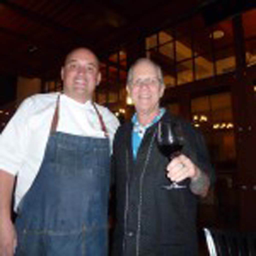 Carlsbad's Twenty/20 Executive Chef Robert Carr created an all-pork dinner event to match up with Steve Heimoff's Jackson Family Pinot Noirs. Photo by Frank Mangio