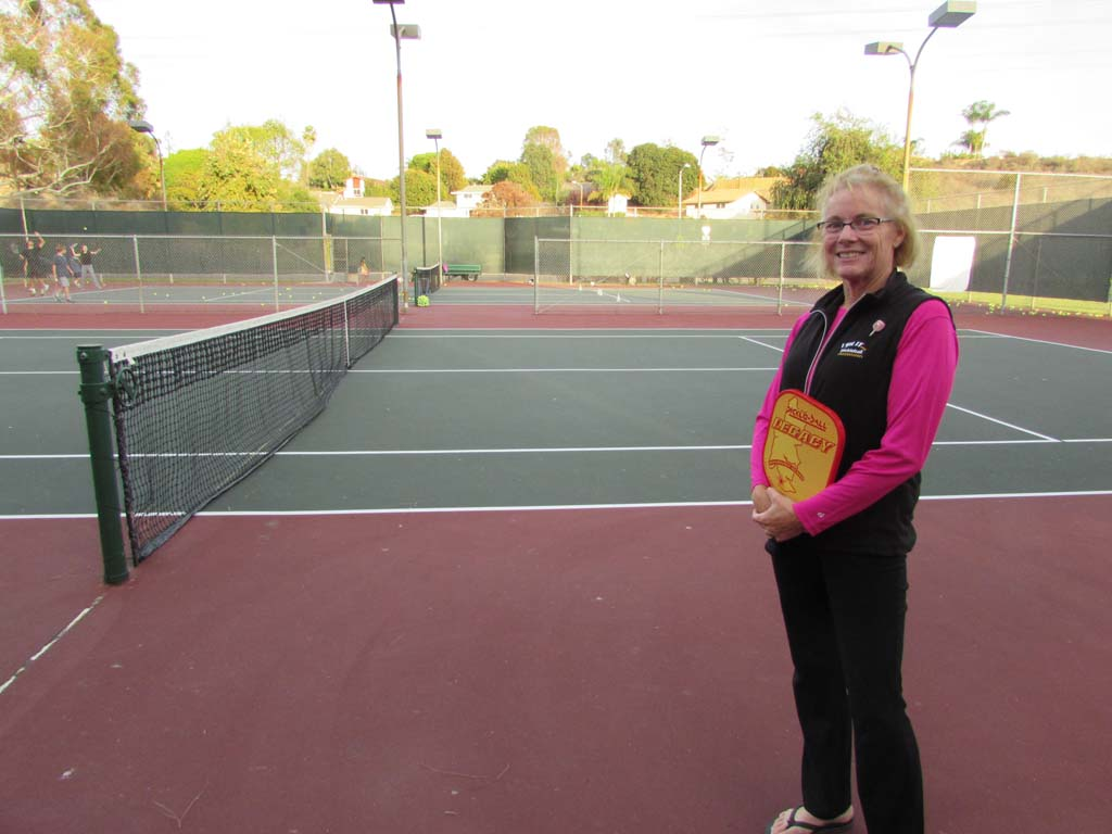 Nationally ranked pickleballer Alex Hamner hopes the two tennis courts at Laguna Riviera City Park will be converted into eight pickleball courts. Photo by Ellen Wright