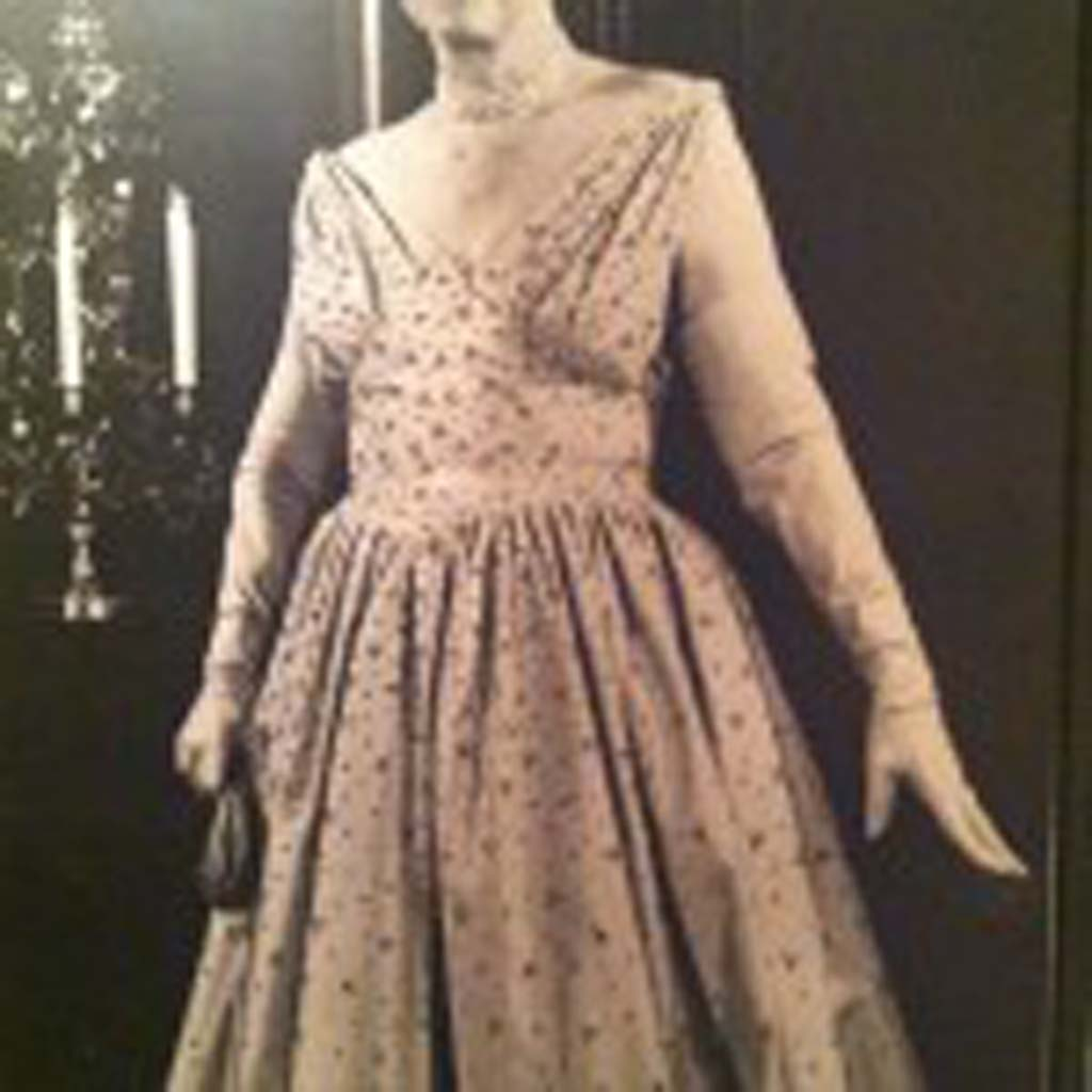 "This larger-than-life photo of Mamie Doud Eisenhower, wife of President Dwight Eisenhower, stands in the Eisenhower Presidential Library in Abilene, Kan. More than 186,000 people visited the library and museum in 2013. ""Ike"" and Mamie met in Denver not long after he graduated from West Point Military Academy in 1915. (Courtesy photo)"