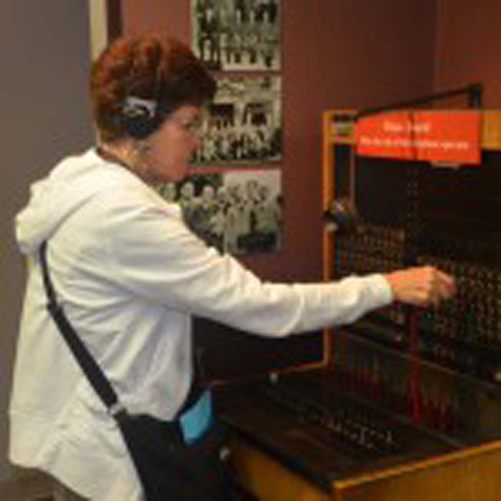 The Museum of Independent Telephony allows some hands-on experiences, like working with this ancient switchboard. They and their operators were the lifeblood of small towns across the country in the early-to-mid 20th century. The museum has an extensive collection of old telephones, equipment and memorabilia. Photo by Jerry Ondash