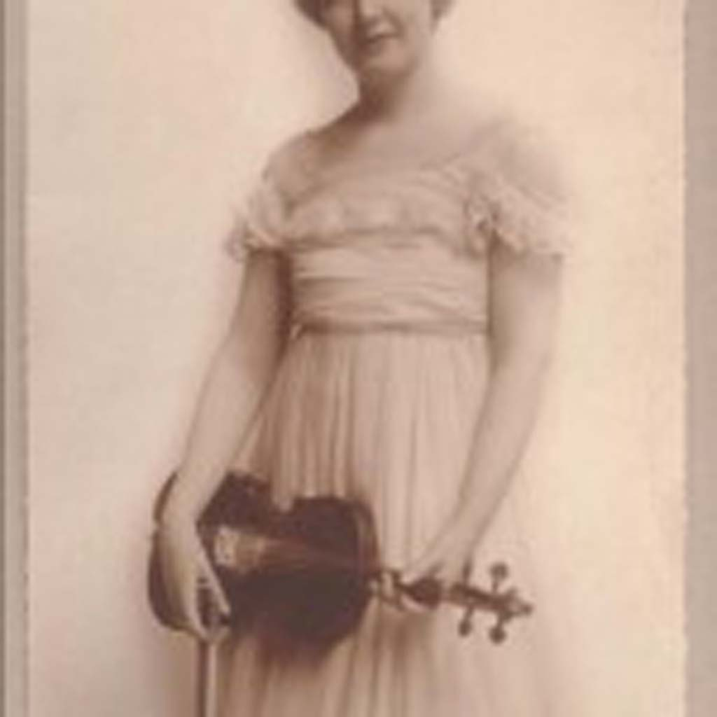 Ruby Norman Lucier (1891-1967) of Abilene, Kan., was a life-long friend of Dwight Eisenhower. She traveled the country via the railroad with the Chautauqua Circuit to entertain small-town America. She also played her violin to draw crowds for William Jennings Bryan during his 1908 campaign for president. Her collection of letters from Eisenhower is stored in the archives at the Eisenhower Library and Museum in Abilene, Kansas. (Courtesy photo)