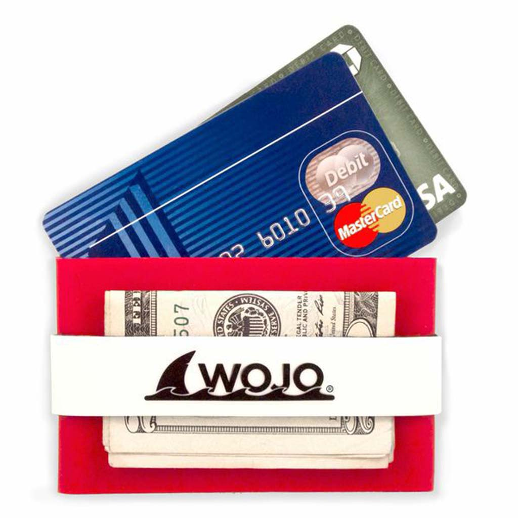 "For the person-on-the-go, the Wojo Wallet is a handy compact place to carry credit cards, driver's license, cash and a key. The neoprene-lined sleeve is grunge- and water-resistant and it floats. The minimalist design lets you tuck this wallet into narrow or hidden pockets for safekeeping. Comes in four colors and soon will be available featuring college logos and colors. $12.99. Visit  HYPERLINK ""http://www.wojowallet.com"" www.wojowallet.com."