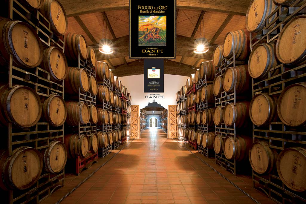 Just one of the pristine wine cellars in Montalcino, Italy's Castello Banfi, which has produced one of Taste of Wine columnist Frank Mangio's top 10 wines of 2014. Photo courtesy Castello Banfi