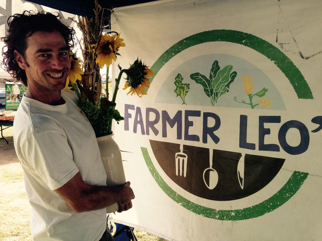 Hanging out at Farmer Leo's Organic Farm in Encinitas