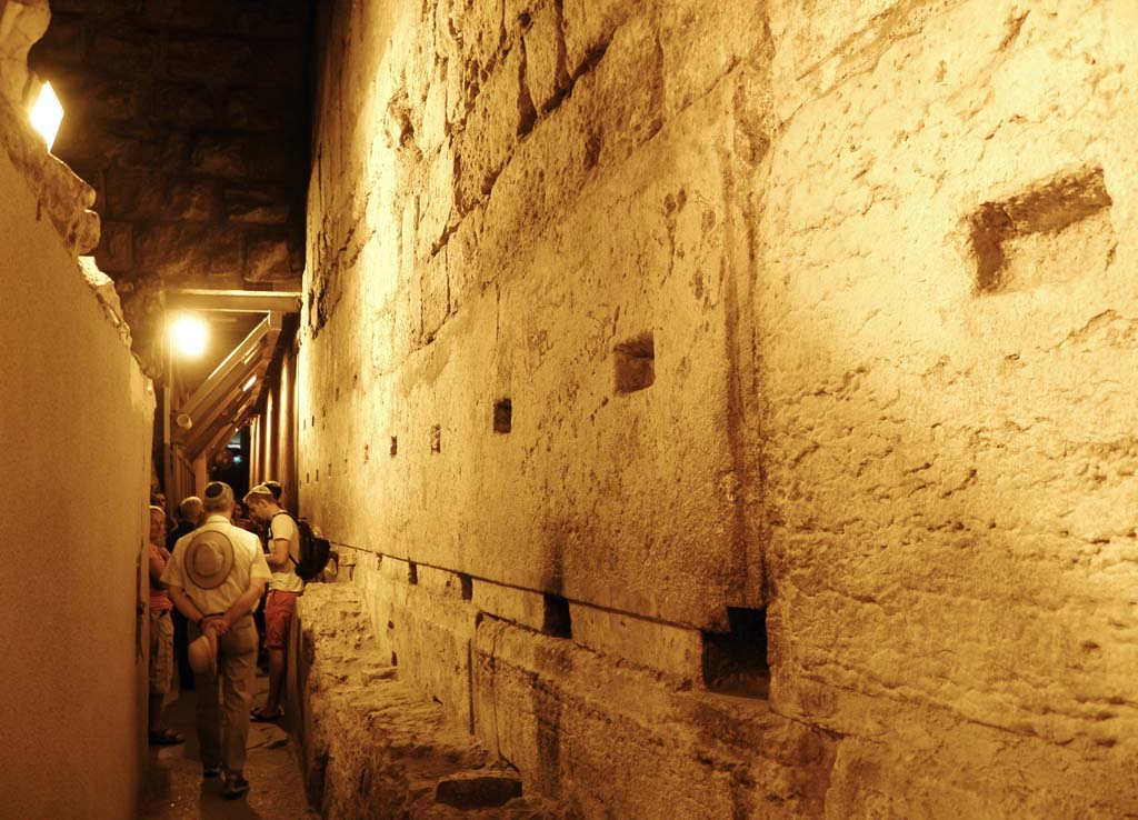 The stone blocks of HaKotel, some 30 feet long and weighing thousands of pounds, are the foundation of the Western/Wailing Wall in Old Jerusalem. The wall is a most sacred site for Jews.