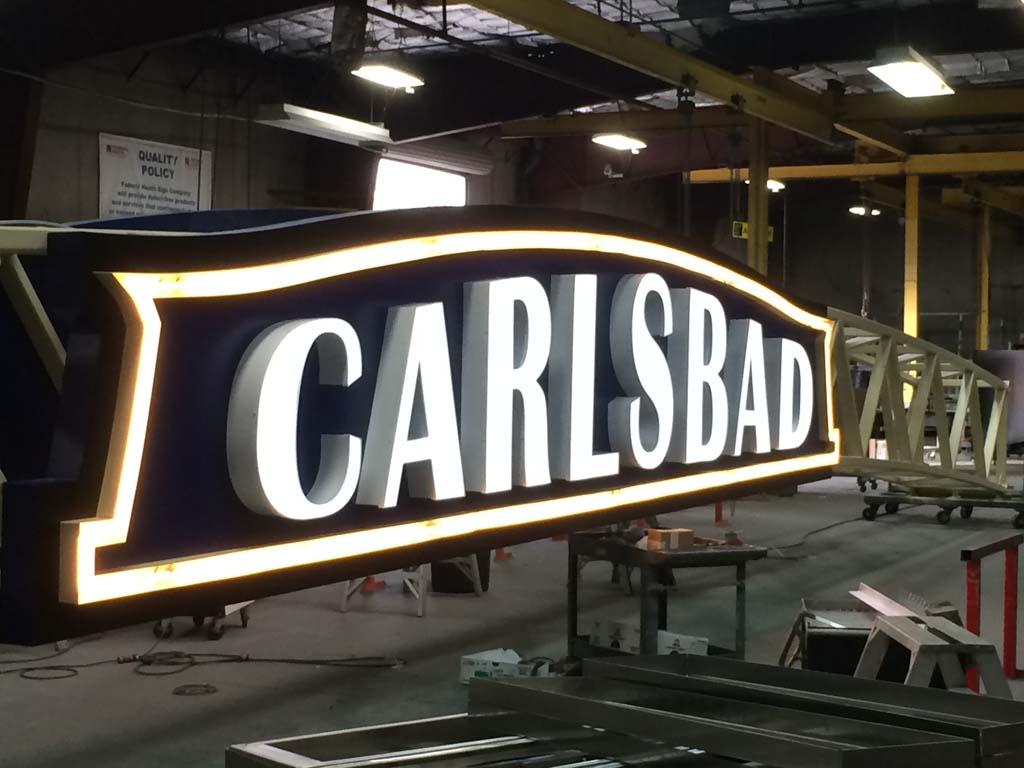 Carlsbad sign: 14 years in the making