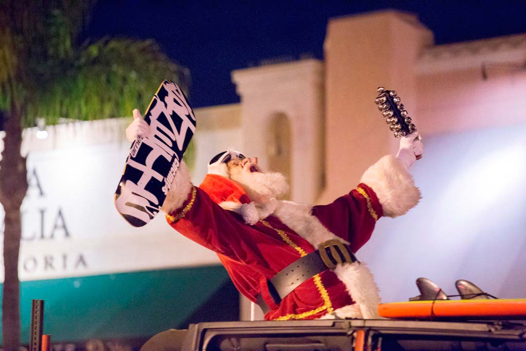 "This Santa ""dropped in"" for the Dec. 6 Encinitas Holiday Parade. Courtesy photo"