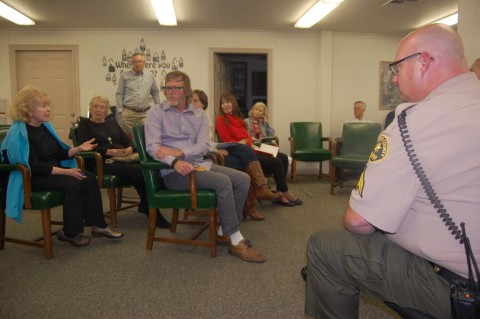 Bar patrons top Coffee with the Sheriff meeting