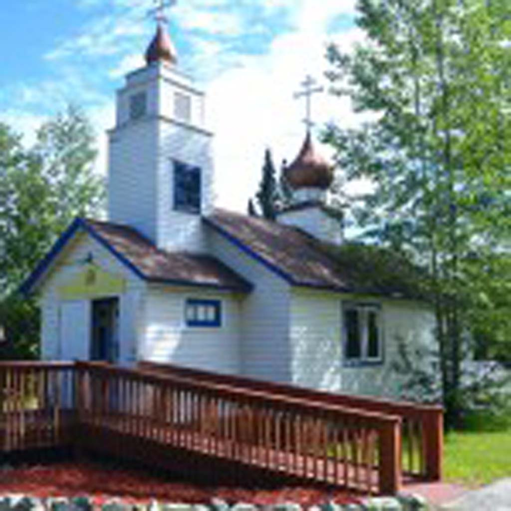 St. Nicholas Church, a Russian Orthodox church, was built by Eklutna residents in 1962. It replaced the first church built sometime in the mid-1880s after Russians began to settle Alaska. The old church still stands and is listed on the National Register of Historic Places. Weekly services are still held in the new church. The origin of the typically Russian onion domes is disputed, though some say they make it difficult for the snow to stick.