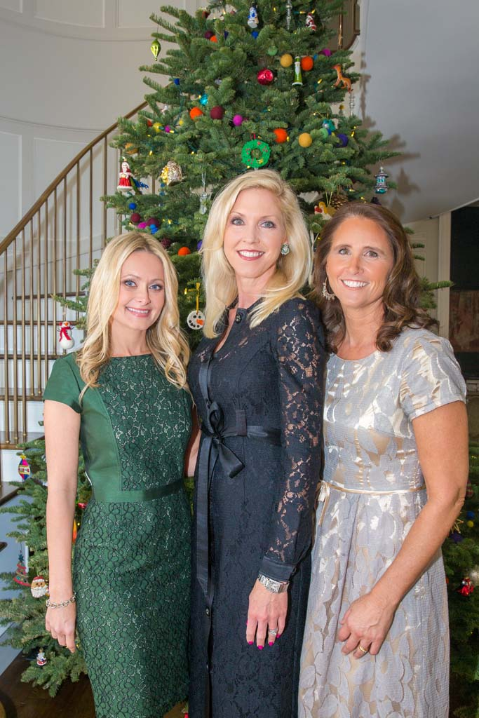 Co-chairwomen of this year's Siler Tea, Nicole Brown and Stephanie LaBrucherie, celebrated raising $120,000, joined by Wendy Neri, president of St. Germaine Children's Charity. Courtesy photo