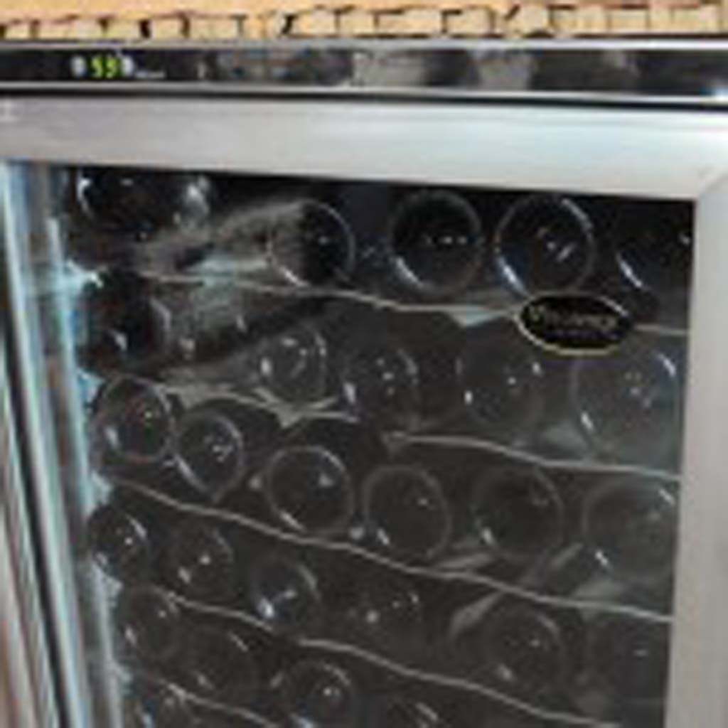 A wine storage cooler should have temperature control and be used only for red wines of heavy body like Cabernet, Syrah, Malbec and Italian style wines. Photo by Frank Mangio