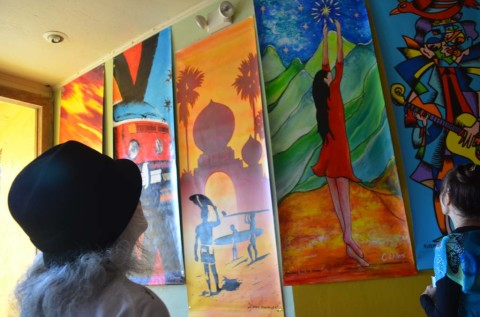 Banner art reflects life in the community