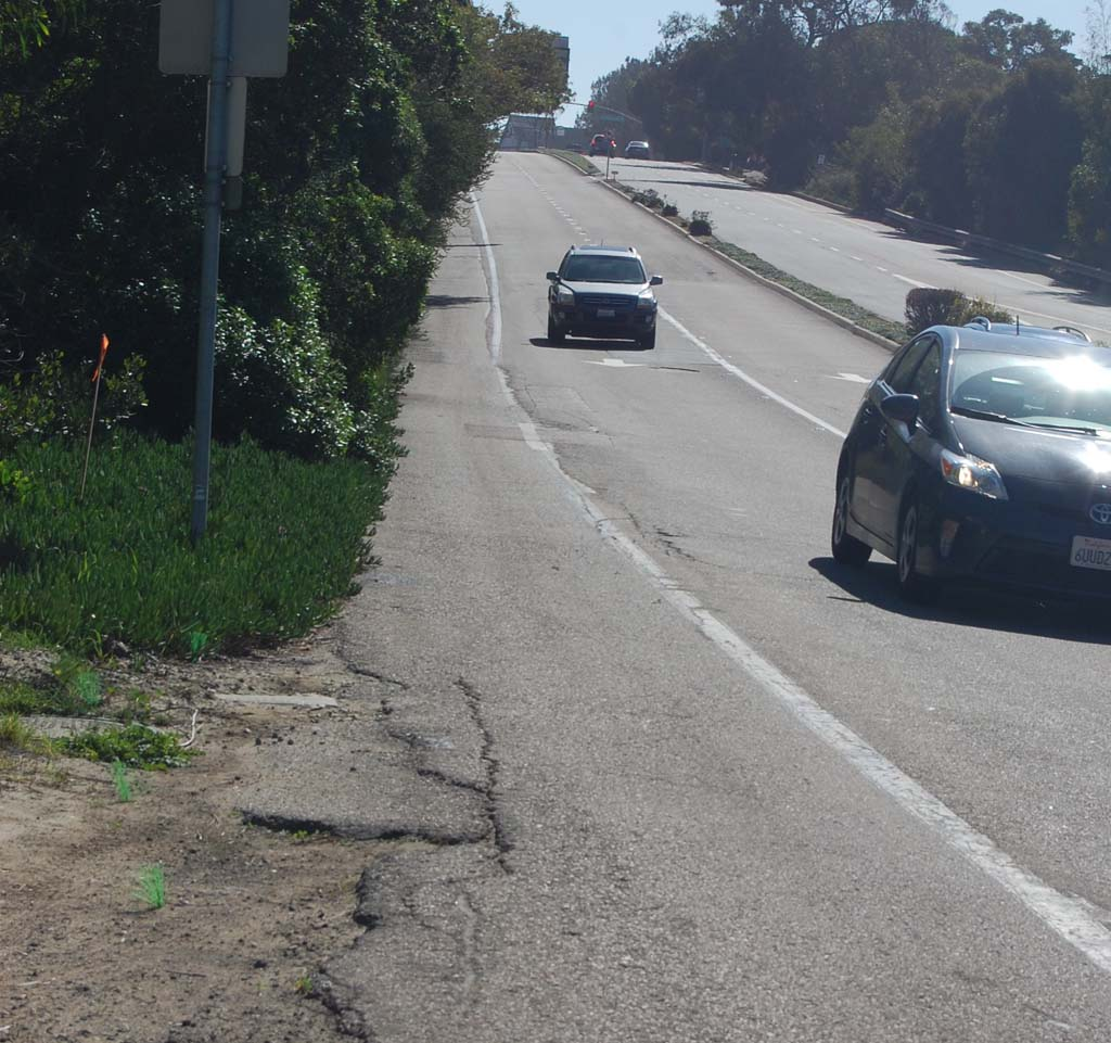 Lack of roadway maintenance was one of the major complaints about city services in a recently conducted satisfaction survey. Photo by Bianca Kaplanek
