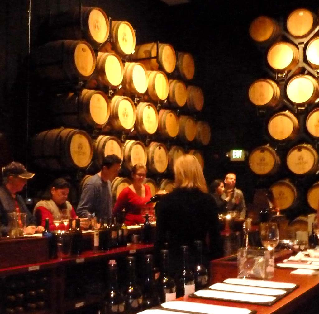 The upscale Tasting Room at WiensFamily Cellars in the Temecula Valley of Southern California. Photo by Frank Mangio