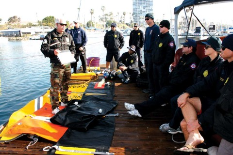 Oceanside Harbor Police lead submerged vehicle dive training