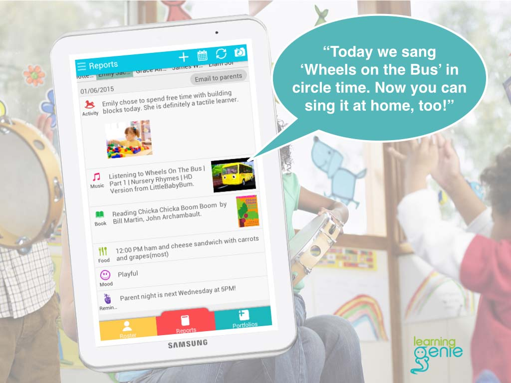 Learning Genie app connects preschool teachers with parents