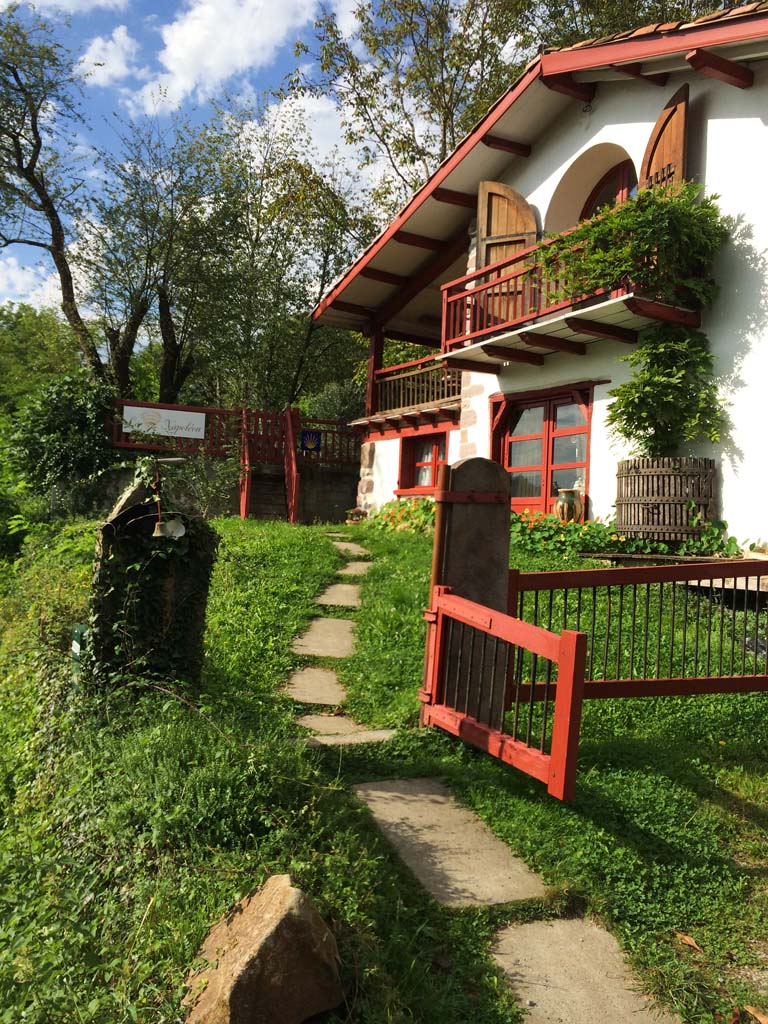 This chalet in France is situated at the start of the Camino de Santiago, the 500-mile trail that winds from St. Jean Pied De Port (one of many starting points throughout Europe) to the cathedral in the city of Santiago. The O'Sheas of San Marcos chose this route because it's said that St. Francis traveled this path, and as a result, it has become one of the most popular Camino trails. Photos by Tim O'Shea