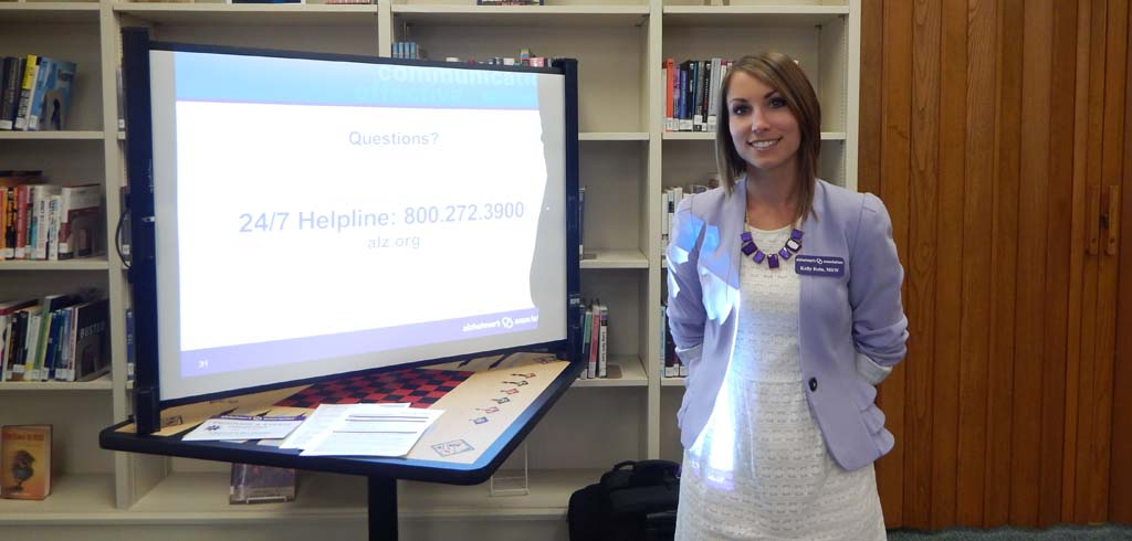 Alzheimer's Association visits RSF Library