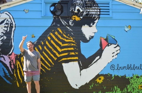 Mural seeks to capture childhood, nostalgia