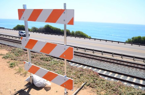 Barriers on San Elijo Avenue placed as a matter of public safety